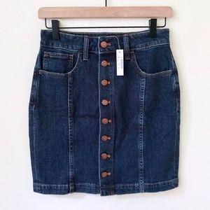 NWT Madewell Denim Straight Mini Skirt